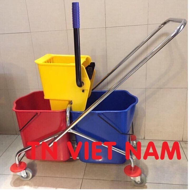 Xe vệ sinh lau nhà xe vắt nước chất lượng cao 1 xô, 2 xô